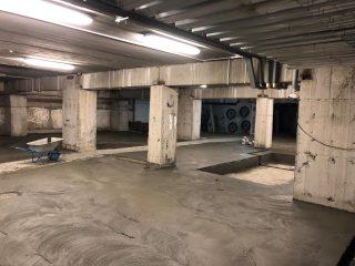 Пол с разноуклонкой в подземном паркинге, 470 м2, 7 дней